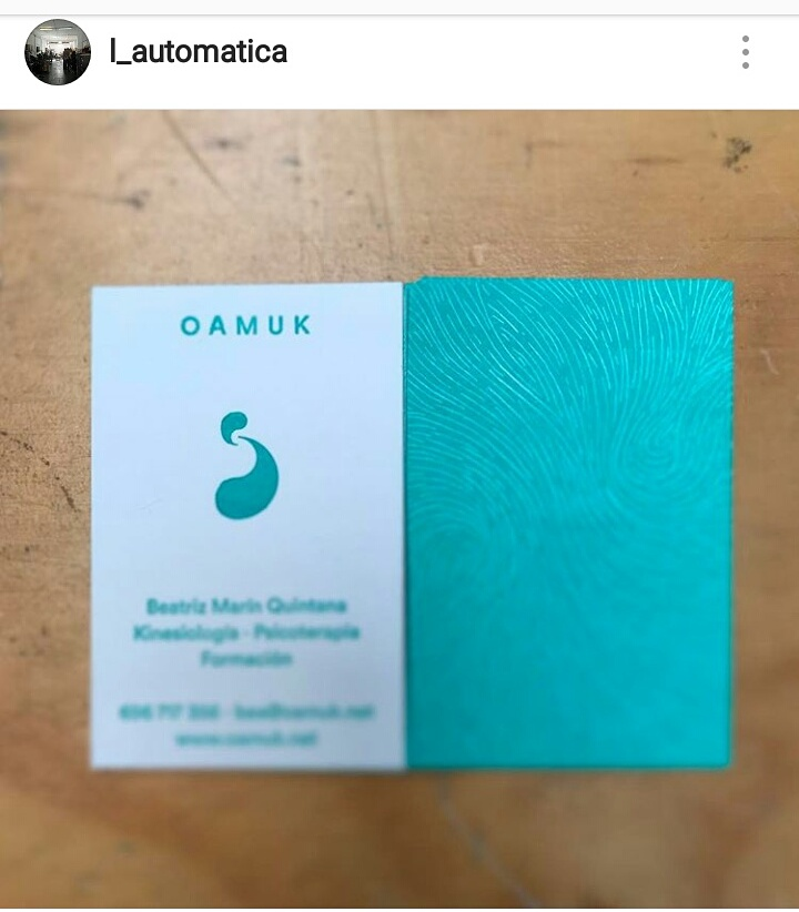 Instagram l_automatica impresión tarjetas
